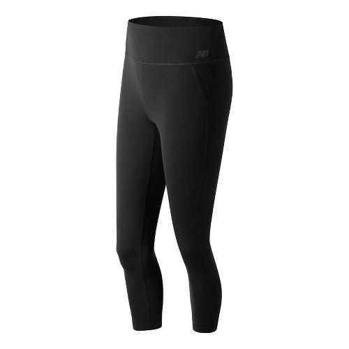 Womens New Balance Premium Performance 3/4 Crop  Tights - Black XL