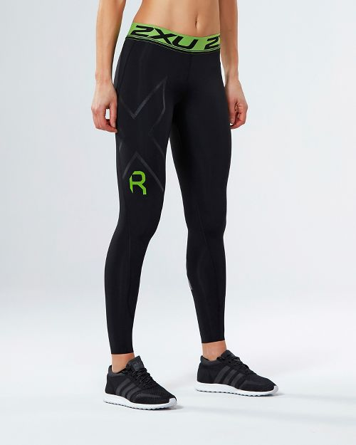 Womens 2XU Refresh Recovery Compression Tights - Black/Nero L