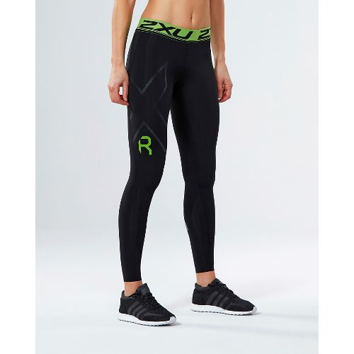 Womens 2XU Refresh Recovery Compression Tights - Black/Nero L