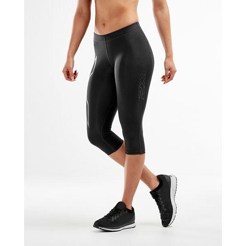 Womens 2XU Core Compression 3/4 Capris Tights - Black/Nero XL