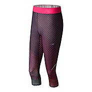 Womens New Balance Printed Accelerate Capris Tights