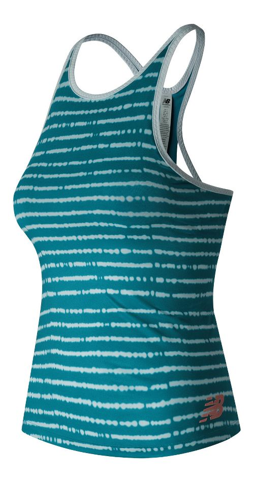 Womens New Balance Richmond Sleeveless & Tank Technical Tops - Deep Ozone Blue S