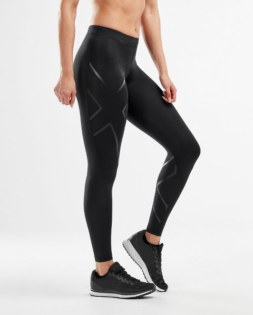 Womens 2XU Core Compression Tights - Black/Nero M-T
