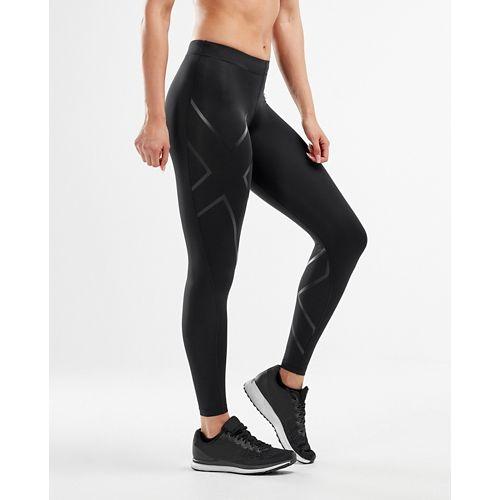 Womens 2XU Core Compression Tights - Black/Nero M-T