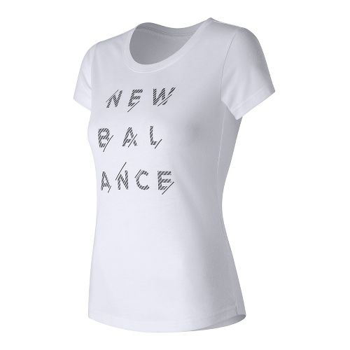 Womens New Balance Sport Style Tee Short Sleeve Technical Tops - White L