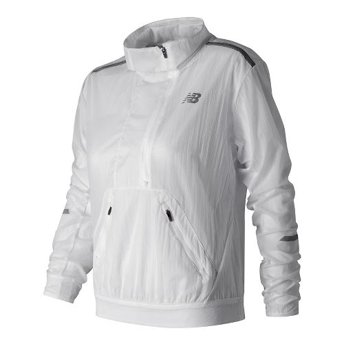 Womens New Balance Sprint Anorak Half-Zips & Hoodies Technical Tops - White L