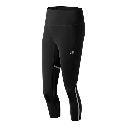 Womens New Balance Sprint Crop Capris Tights - Black L