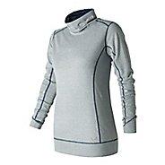 Womens New Balance Stripe Tunic Long Sleeve Technical Tops