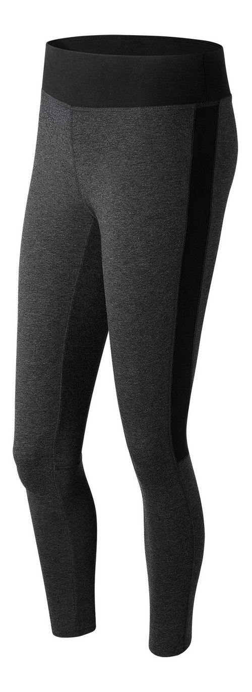 Womens New Balance Trackster Legging Tights - Heather Charcoal L