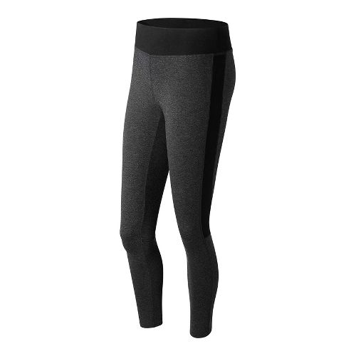 Womens New Balance Trackster Legging Tights - Heather Charcoal S