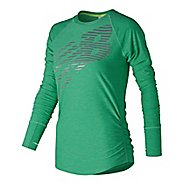 Womens New Balance Viz Long Sleeve Technical Tops