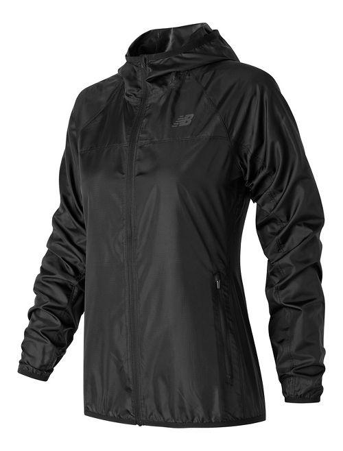 Womens New Balance Windcheater Cold Weather Jackets - Black L