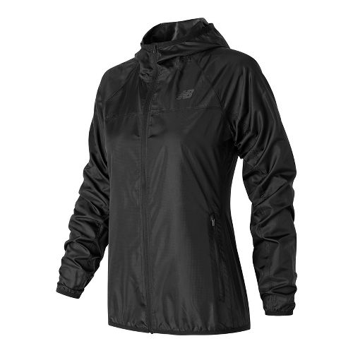 Womens New Balance Windcheater Cold Weather Jackets - Black L