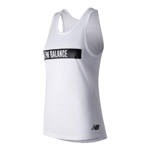 Womens New Balance Trackster Sleeveless & Tank Technical Tops - White S