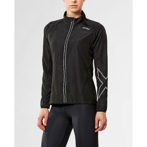 Womens 2XU X-VENT Running Jackets - Black/Black S