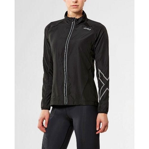 Womens 2XU X-VENT Running Jackets - Black/Black XS
