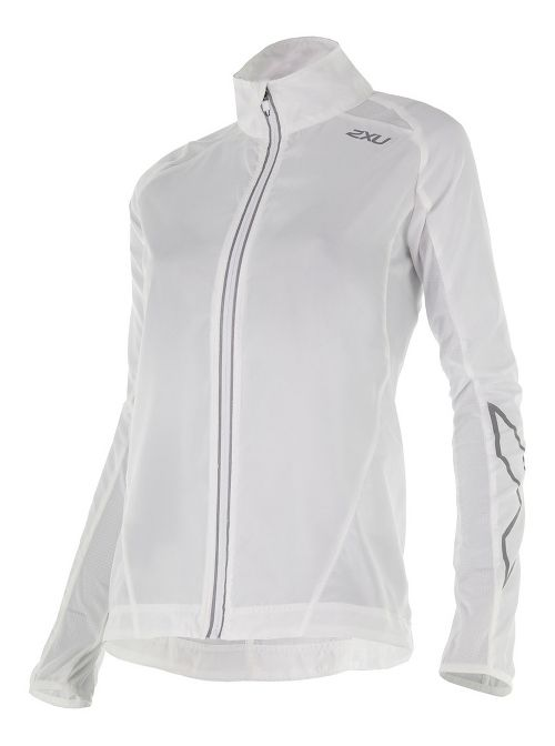 Womens 2XU X-VENT Running Jackets - White/White M