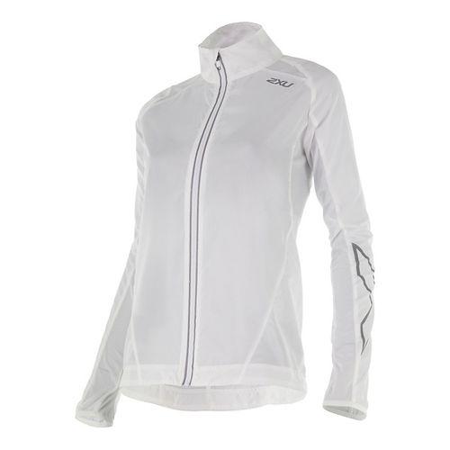 Womens 2XU X-VENT Running Jackets - White/White L