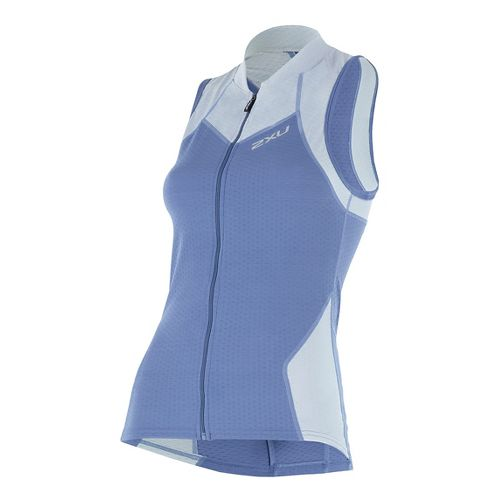 Womens 2XU X-VENT Multisport Tri Singlet Sleeveless & Tank Tops Technical Tops - Blue ...