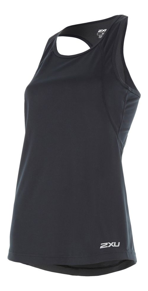 Womens 2XU X-VENT Racerback Singlet Sleeveless & Tank Tops Technical Tops - Black/Silver L