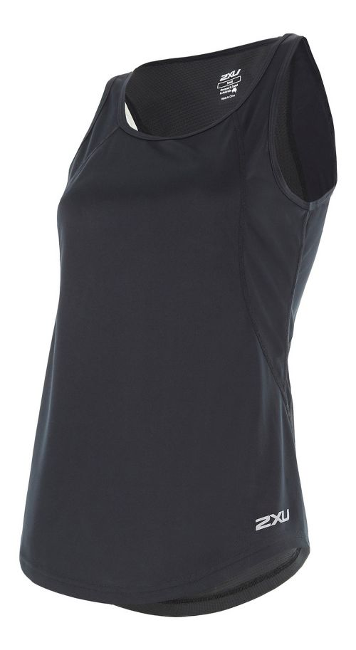 Womens 2XU X-VENT Sleeveless & Tank Tops Technical Tops - Black/Silver XS