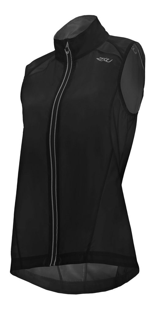 Womens 2XU X-VENT Vests Jackets - Black/Black M