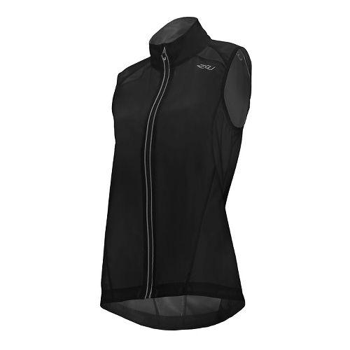 Womens 2XU X-VENT Vests Jackets - Black/Black L