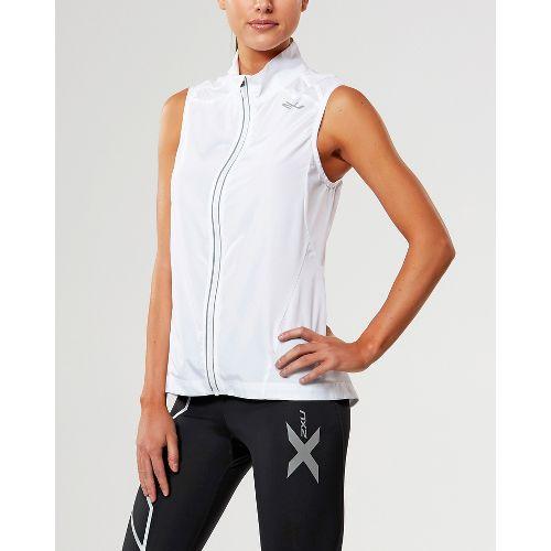 Womens 2XU X-VENT Vests Jackets - White/White S