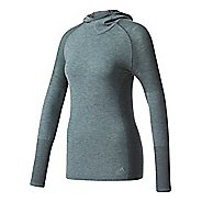 Womens Adidas Primeknit Wool Long-Sleeve Hooded Tee Technical Tops