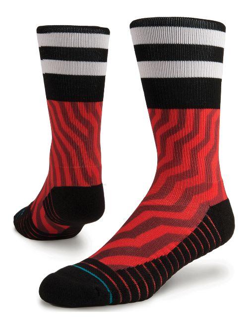 Mens Stance Jord Athletic Crew Socks - Red L