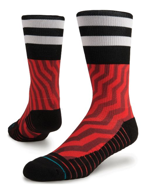 Mens Stance Jord Athletic Crew Socks - Red M