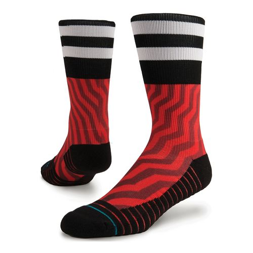 Mens Stance Jord Athletic Crew Socks - Red M
