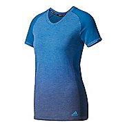 Womens Adidas Primeknit Wool Tee - Dip Dye Short Sleeve Technical Tops