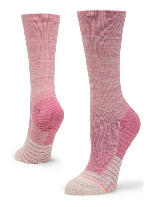 Womens Stance Athletic Circuit Crew Socks - Pink M