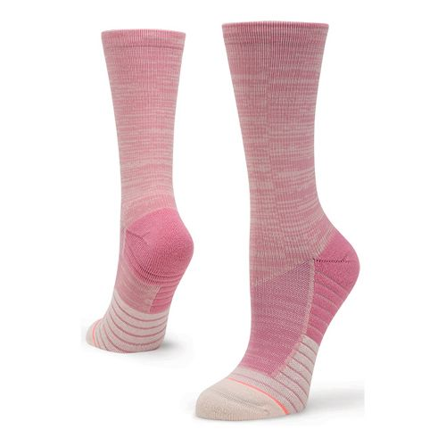 Womens Stance Athletic Circuit Crew Socks - Pink S