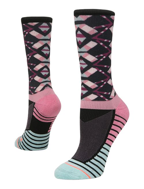 Womens Stance Athletic Axis Crew Socks - Purple M
