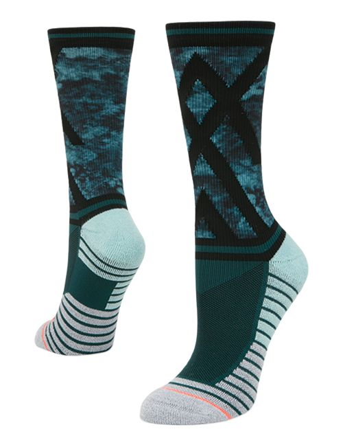 Womens Stance Athletic Precision Crew Socks - Teal M
