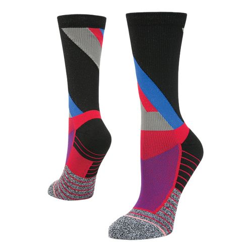 Womens Stance Athletic Focus Crew Socks - Red M