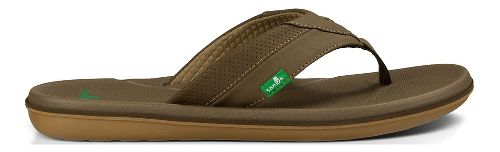 Mens Sanuk Bandito Sandals Shoe - Brown 9