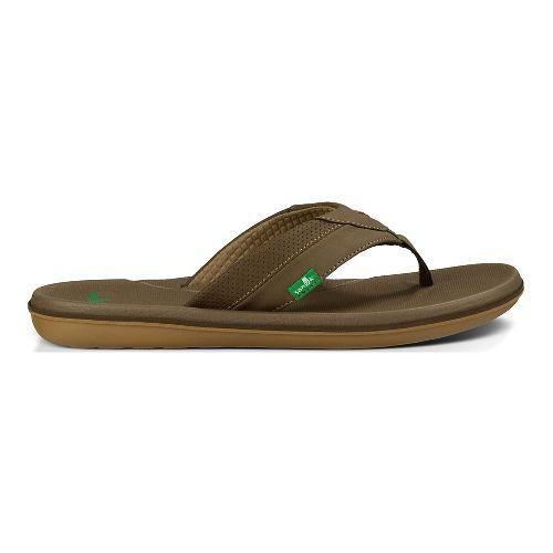 Mens Sanuk Bandito Sandals Shoe - Brown 11