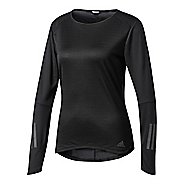 Womens Adidas Response Tee Long Sleeve Technical Tops