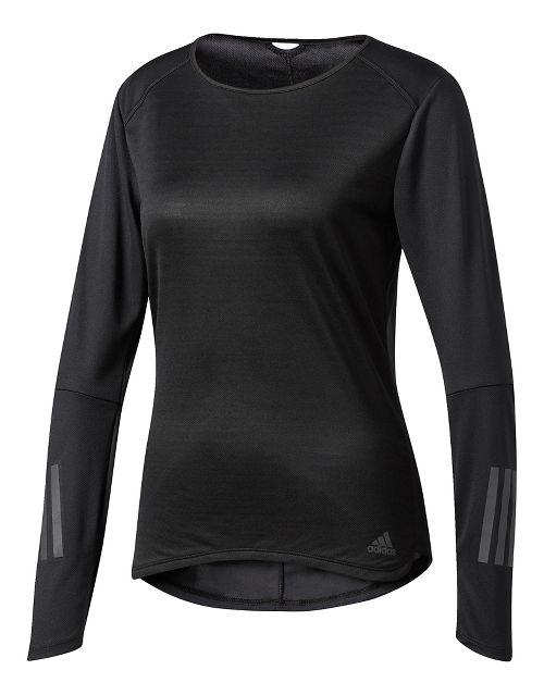 Womens adidas Response Tee Long Sleeve Technical Tops - Black XS