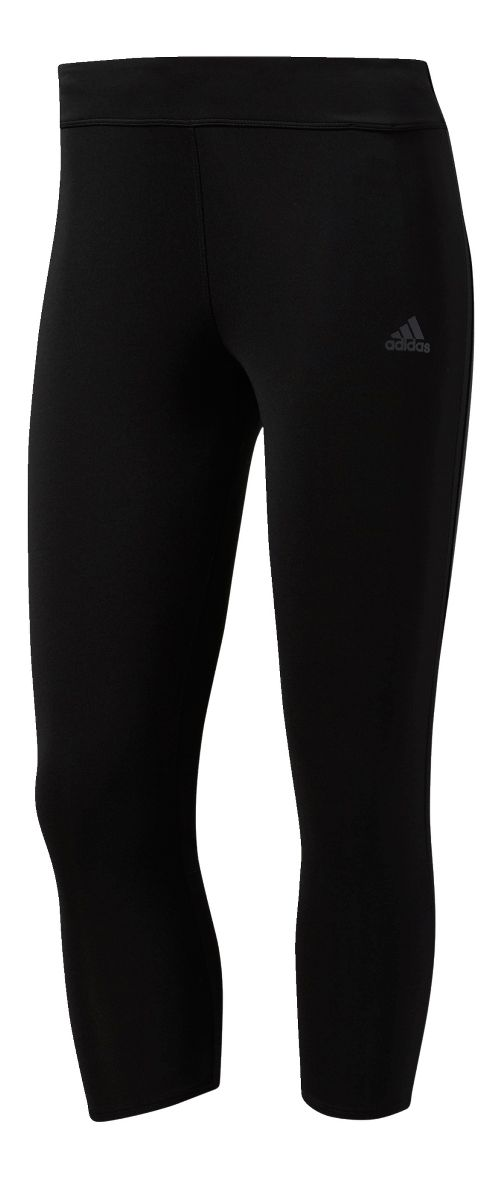Womens adidas Response Three-Quarter Crop Tights - Black XL
