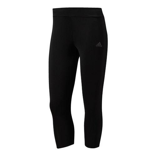 Womens Adidas Response Three-Quarter Crop Tights - Black XL