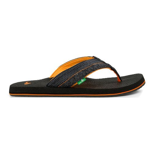 separation shoes 6da8c 38b4e ... mens sanuk beer cozy 2 mesh sandals shoe black orange 14 vibram  fivefingers ...