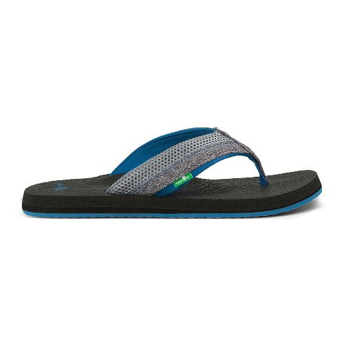 Mens Sanuk Beer Cozy 2 Mesh Sandals Shoe - Grey/Bay Blue 14