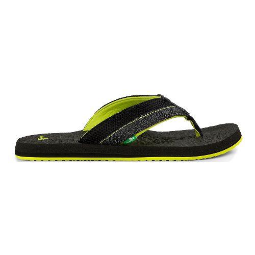 Mens Sanuk Beer Cozy 2 Mesh Sandals Shoe - Black/Lightning 9