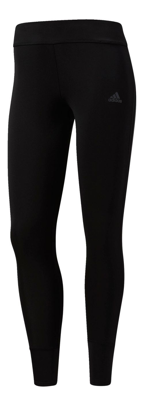 Womens Adidas Response Long Cold Weather Tights - Black M