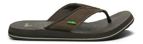 Mens Sanuk Beer Cozy Primo Sandals Shoe - Brown 13