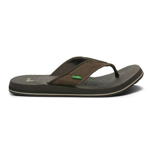 Mens Sanuk Beer Cozy Primo Sandals Shoe - Brown 8
